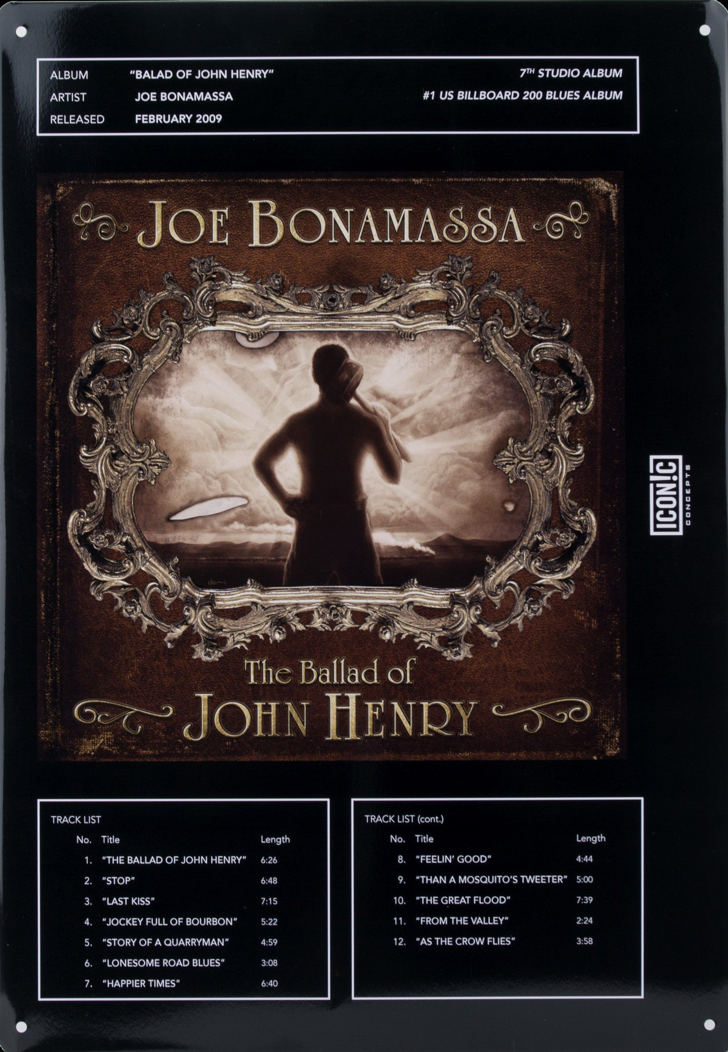Joe Bonamassa Tin Sign - Ballad Of John Henry