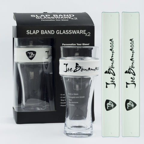 Joe Bonamassa Signature Slap Band Glassware In White