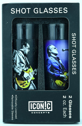 Joe Bonamassa Shot Glasses With Aluminum Sleeves - 2Pack Gold Top
