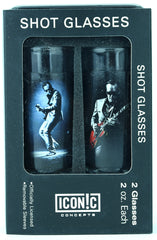 Joe Bonamassa Shot Glasses 2Pack With Aluminum Sleeves - Red Guitar