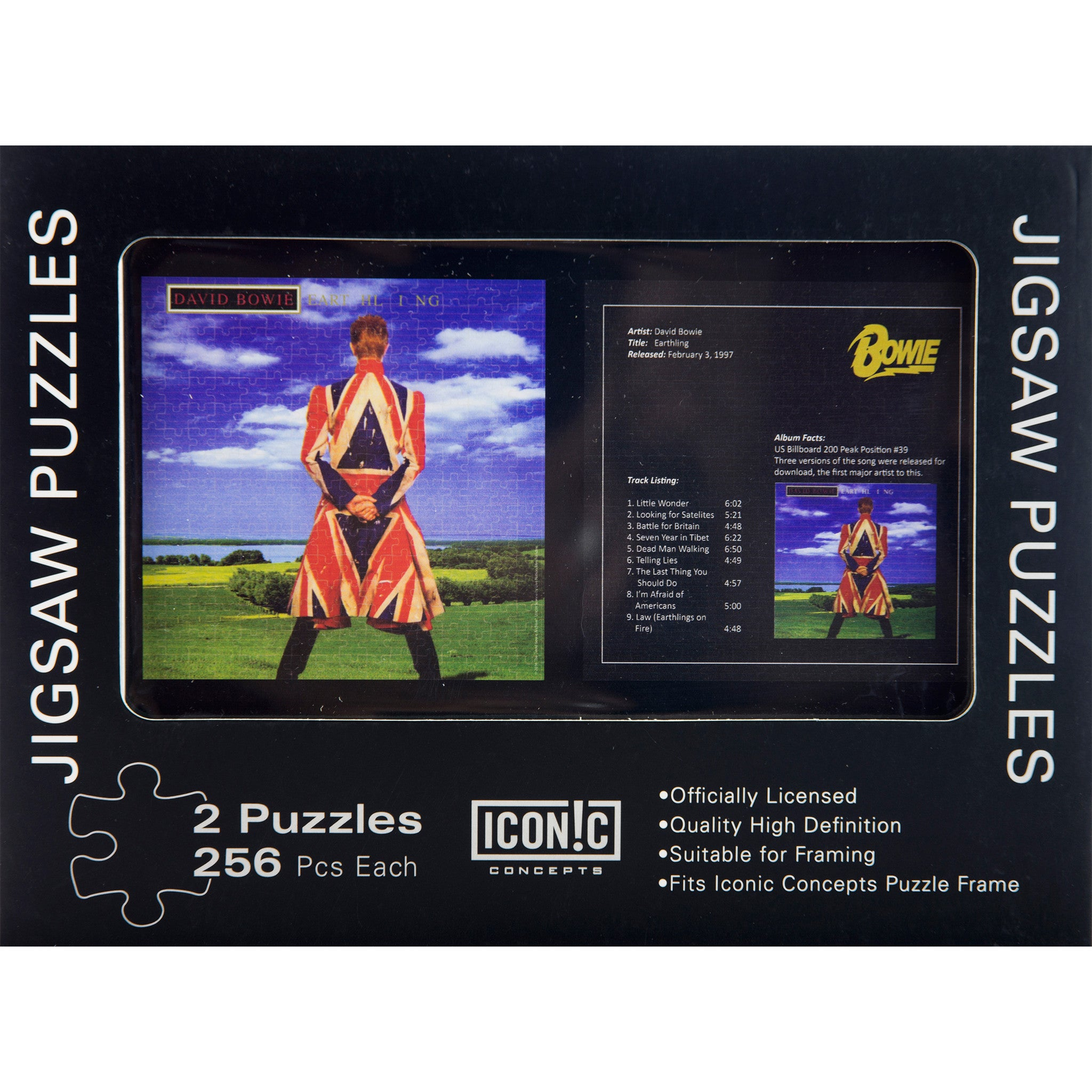 David Bowie Earthling Double Jigsaw Puzzle Set