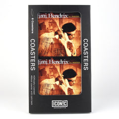 Jimi Hendrix Live at Woodstock 6 Pc Metal Coaster Set