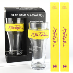 Jimi Hendrix - 2 Pack Slap Band Glassware  Yellow Slap Band w/Purple Jimi Hendrix Logo