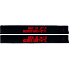 "Lynyrd Skynyrd Slap Band 2 Pack Black w/Red ""And this bird you cannot change"" and Lynyrd Skynyrd Logo"