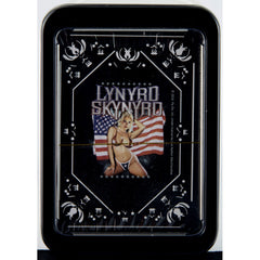Lynyrd Skynyrd Girl with Flag Single Deck Playing Cards