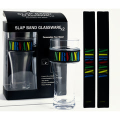 Nirvana Multi Color Logo 2 Pack Slap Band Glassware - Black w/Multi Color Graphics