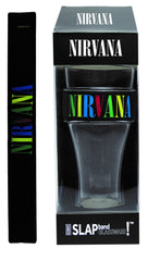 Nirvana Slap Band Glassware - Single Pack with Slap Band Nirvana Black Band/Multi Color Logo