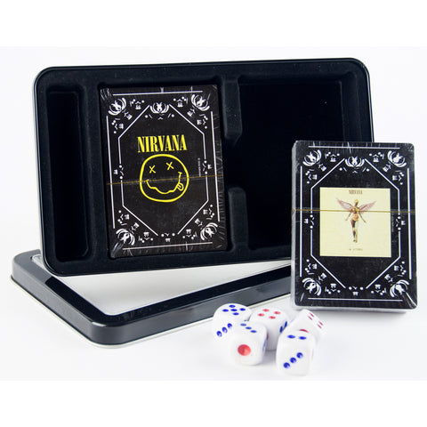 Nirvana Double Deck Playing Cards w/Dice Set
