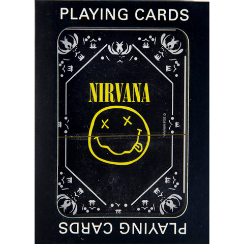 Nirvana Smiley Logo Single Deck Playing Cards