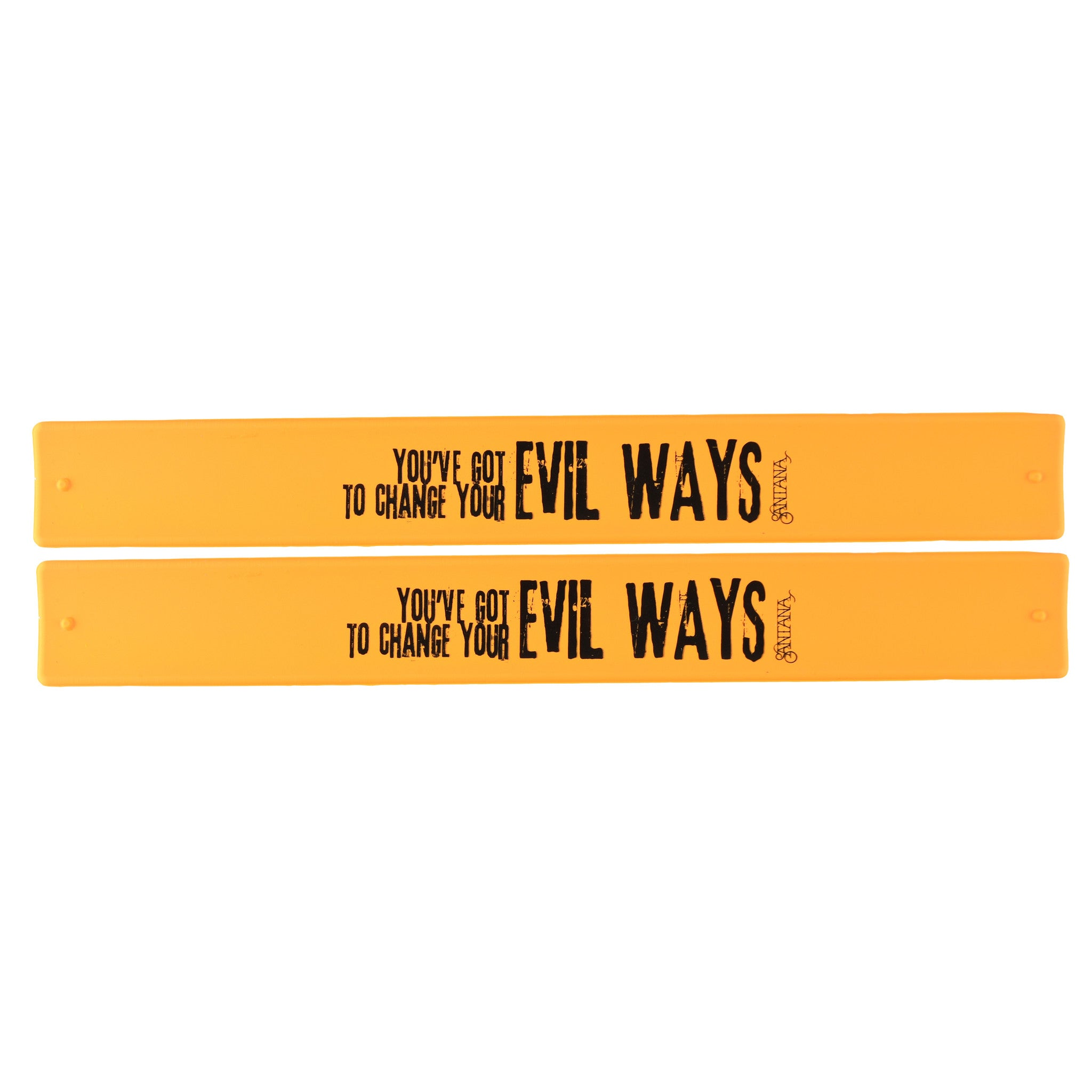 Santana Slap Bands 2 Pack Orange w/Black Evil Ways Graphic