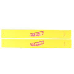 Slap Band 2 Pack -Sex Pistols Logo - Yellow Band w/Pink Logo