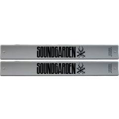 Soundgarden 2 Pack White Slap Band w/Black Soundgarden Logo