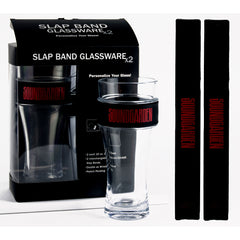 Soundgarden Slap Band Glassware - 2 Pack Slap Band Glassware w/Black Slap Band w/Red Soundgarden logo