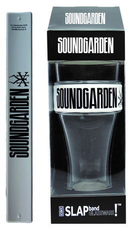 Soundgarden Slap Band Glassware - Single Pack Slap Band Glassware -  Soundgarden White Band/Black Logo