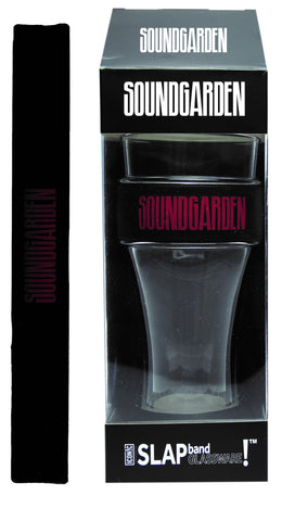 Soundgarden Slap Band Glassware - Single Pack Slap Band Glassware -  Soundgarden Black Band/Red Logo