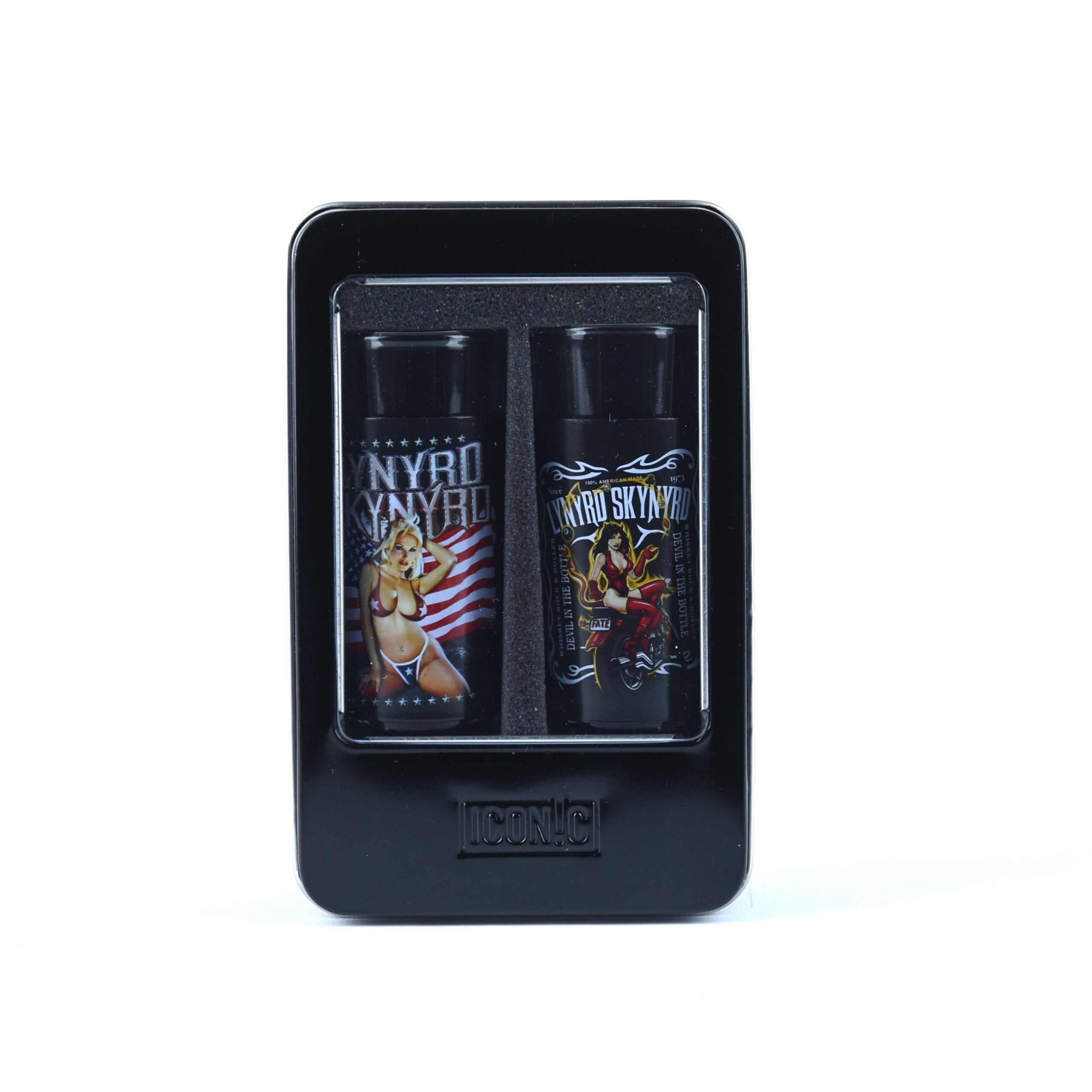"Lynyrd Skynyrd 2 Pc Shot Glass Set ""Girls"""