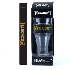 Megadeth Single Pack Slap Band Glassware includes Silicone Wrapped Slap Band Black w/Gold Logo
