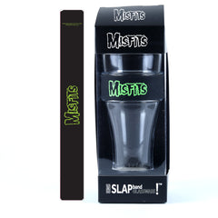 Misfits Single Pack Slap Band Glassware includes Silicone Wrapped Slap Band Black w/Green Logo