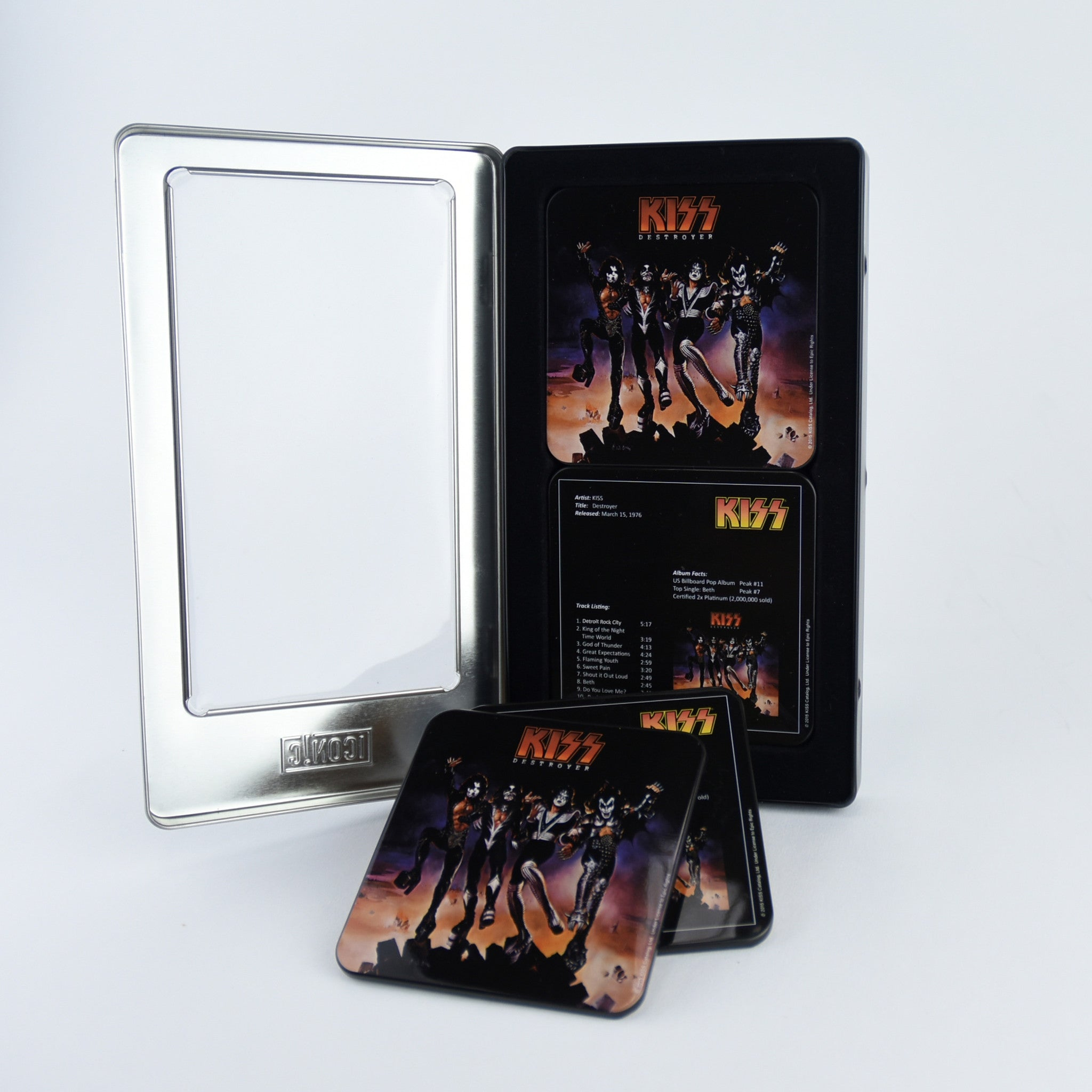 KISS® Destroyer 6 Pc Tin Coaster Set