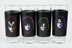 "KISS® ""Solos"" Faces 4 Pc Shot Glass Set"