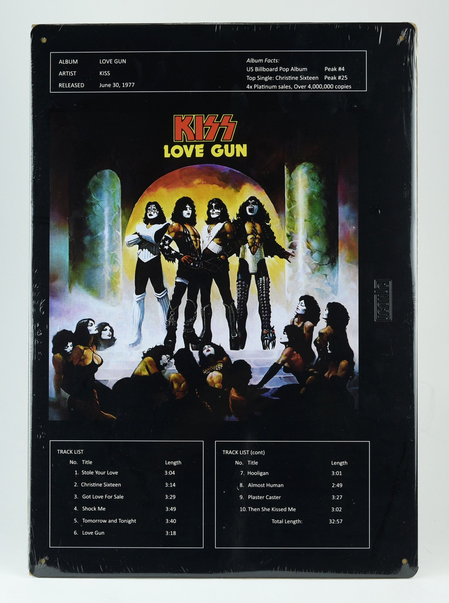 KISS® Love Gun Album Cover Tin Sign