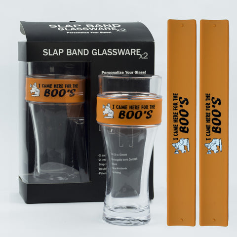 Halloween Slap Band Glassware - I Came Here For The Boos