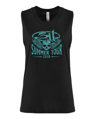 2018 Tour Ladies Skull Wings Tank