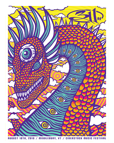 2018 Tour - Middlebury, VT (8/18) Poster