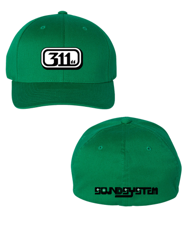 Soundsystem Logo Flex Fit Hat Kelly (Pre-Order)