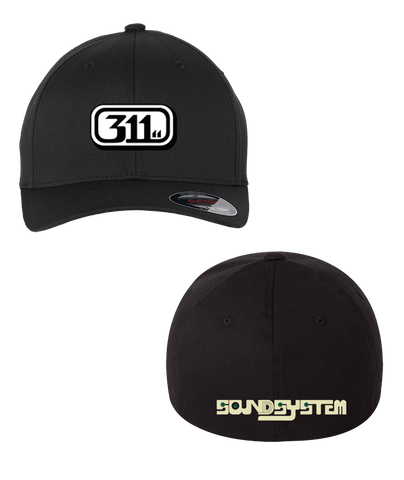 Soundsystem Logo Flex Fit Hat Black (Pre-Order)