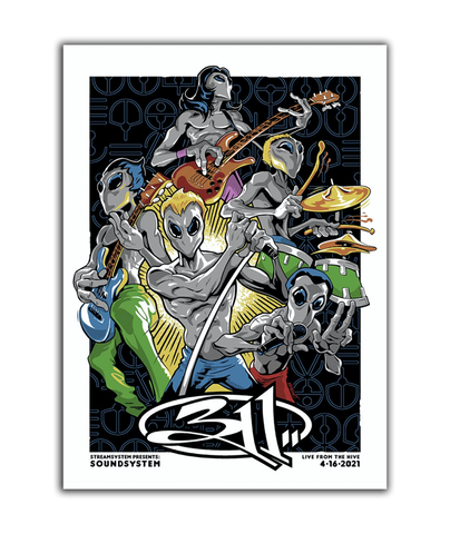 Soundsystem Alien Band Poster - Regular (Pre-Order)