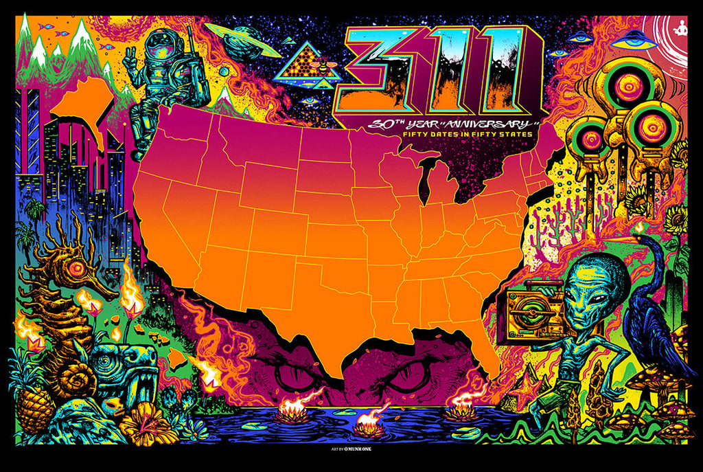 2020 - State Tour Map Poster