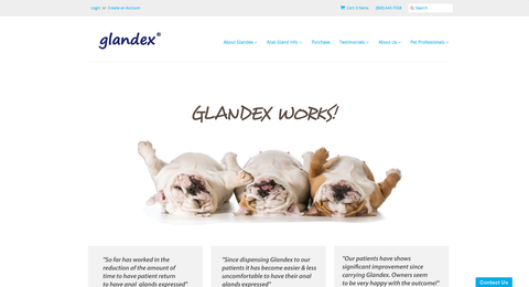 Glandex Website for Dog Anal Glands
