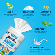 Glandex® Anal Gland Hygienic Pet Wipes - 100 Fresh Scented Wipes