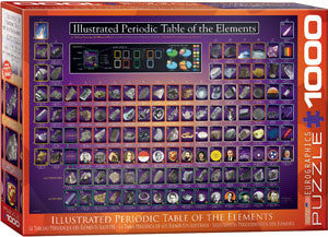 Eurographics - Illustrated Periodic Table of the Elements, 1000 PC Puzzle
