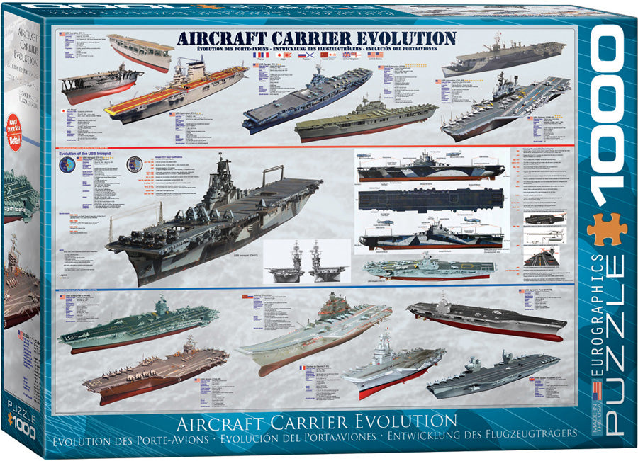 Eurographics  - Aircraft Carrier Evolution, 1000 PC Puzzle
