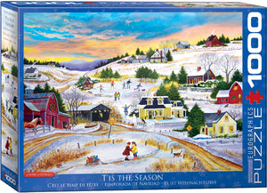 Eurographics  - T'is the Season by Patricia Bourque, 1000 PC Puzzle