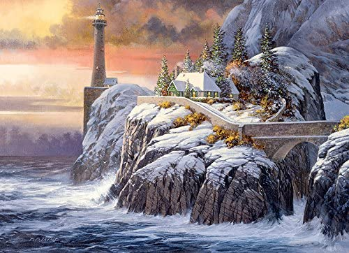 Cobble Hill - Winter Lighthouse, 1000-Piece Puzzle