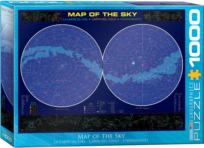 Eurographics - Map of the Sky, 1000 PC Puzzle