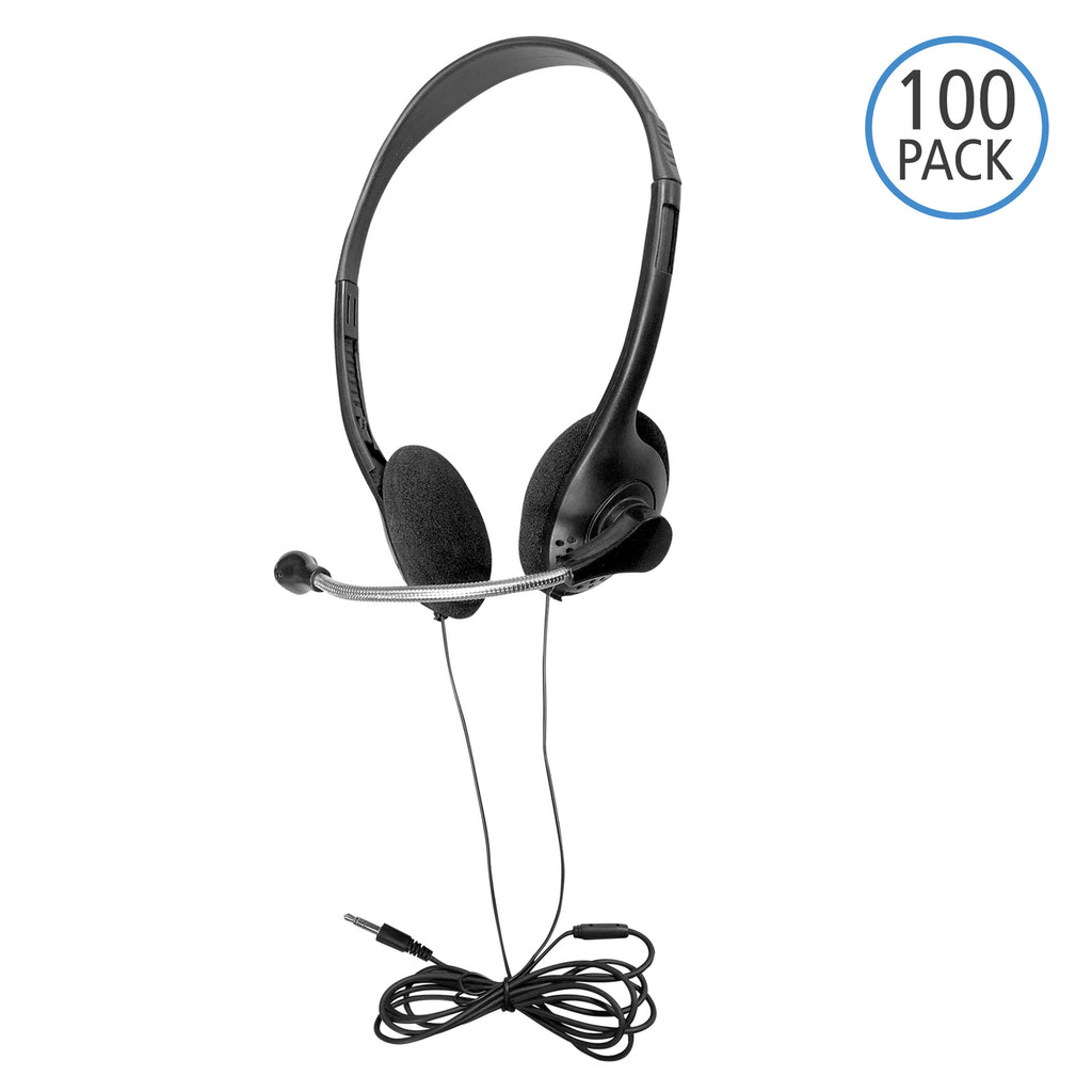 HamiltonBuhl -  Headset On Ear w/Mic 100 Pack TRRS Plug