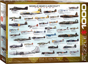 Eurographics - WWII Aircraft, 1000 PC Puzzle