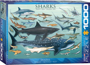 Eurographics - Sharks, 1000 PC Puzzle
