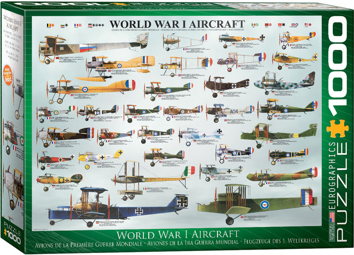 Eurographics - WWI Aircraft, 1000 PC Puzzle