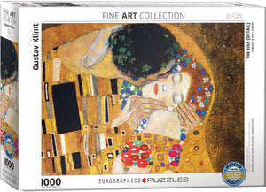Eurographics - The Kiss (Detail) by Gustav Klimt, 1000 PC Puzzle