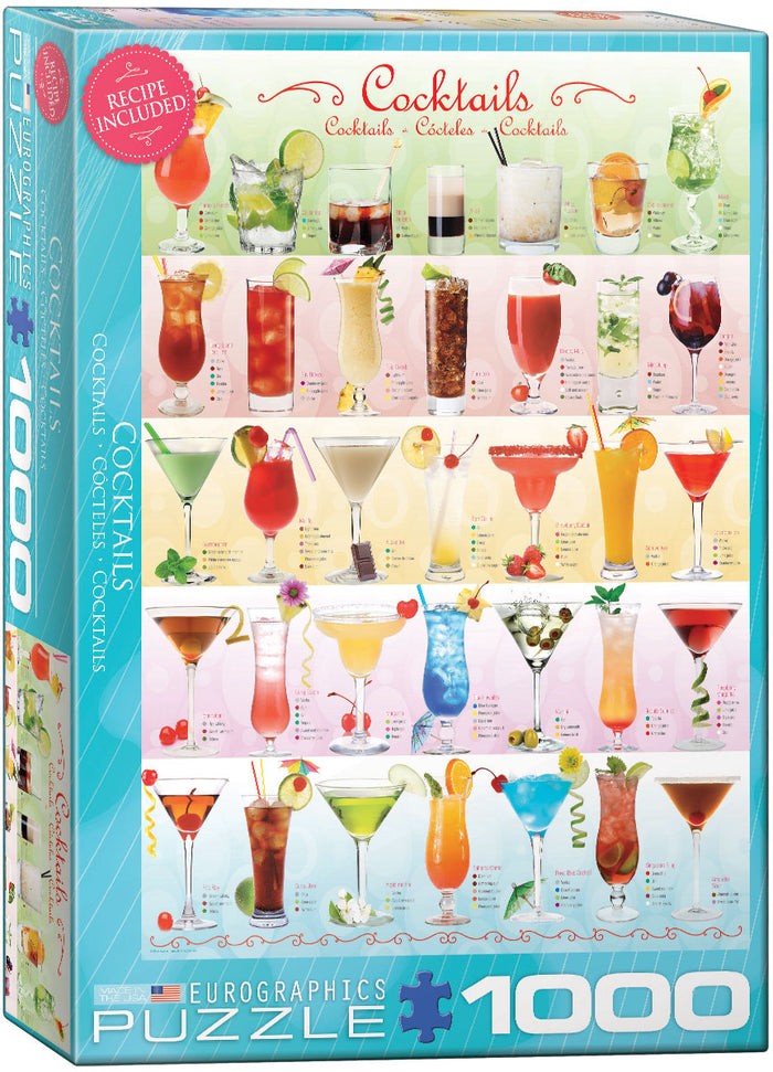 Eurographics - Cocktails, 1000 PC Puzzle