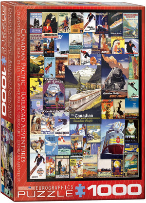 Eurographics - CP Railroad Adventures, 1000 PC Puzzle
