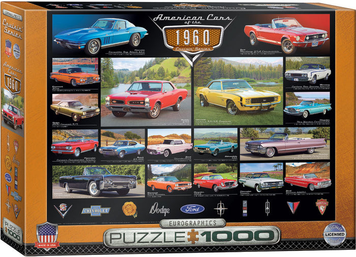 Eurographics - American Cars of the 1960s, 1000 PC Puzzle