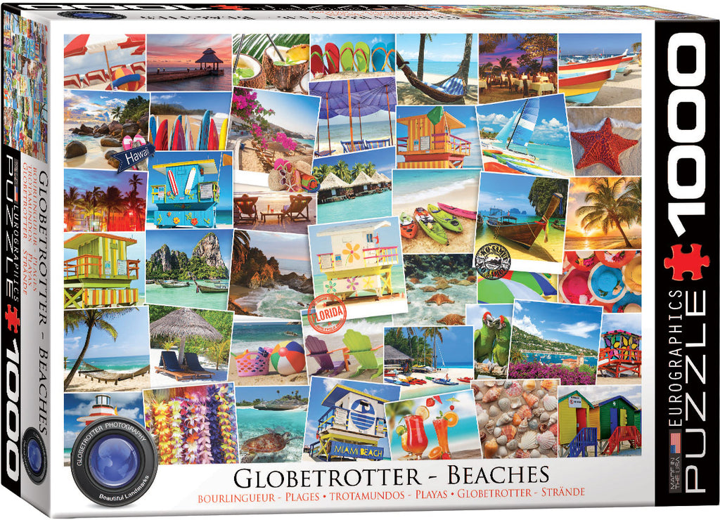 Eurographics  - Beaches Globetrotter , 1000 PC Puzzle
