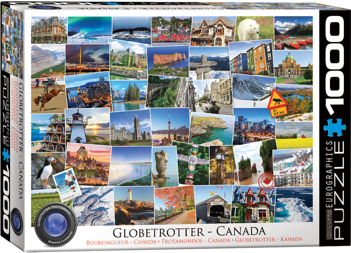 Eurographics - Canada - Globetrotter, 1000 PC Puzzle
