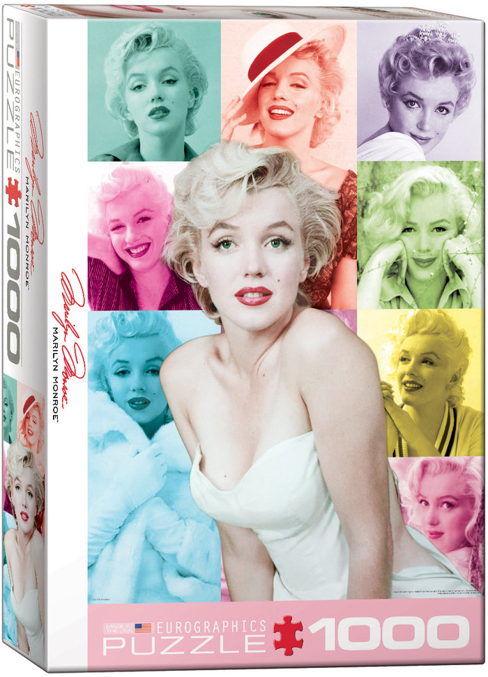 Eurographics - Marilyn Monroe -Color Portraits, 1000 PC Puzzle